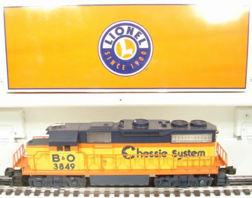 Lionel 6-28827 Chessie 3849 GP38 Powered Diesel Engine