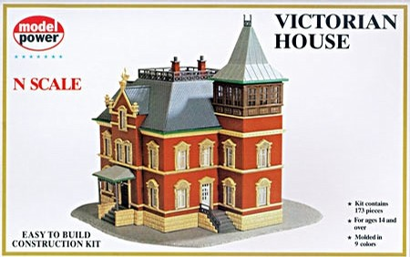 Model Power 1526 N Scale Victorian House Kit - - Trainz Auctions