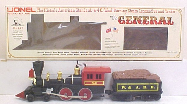 Lionel 6-8701 General Steam Locomotive and Tender - - Trainz