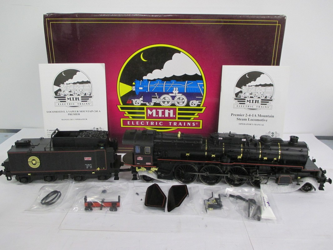 MTH 20-3406-1 Scnf Est Era II Class 241A65 Steam Engine W