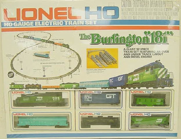 Lionel 5-2682 Burlington 181 HO Scale Train Set - - Trainz