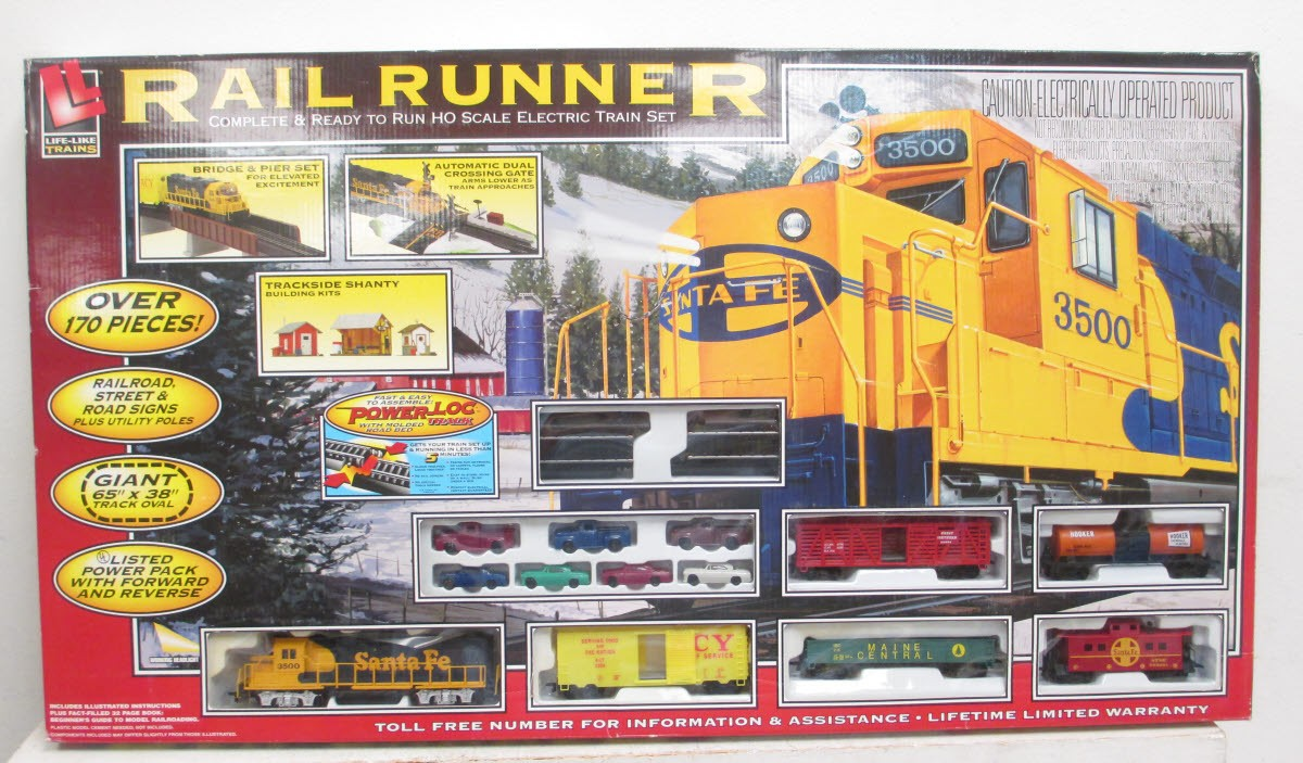 Life-Like HO 433-8635 Sante Fe Rail Runner P-L Set