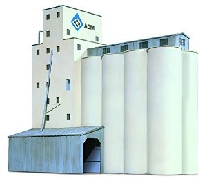 Walthers 933-3225 N Scale ADM Grain Elevator Building Kit - - Trainz