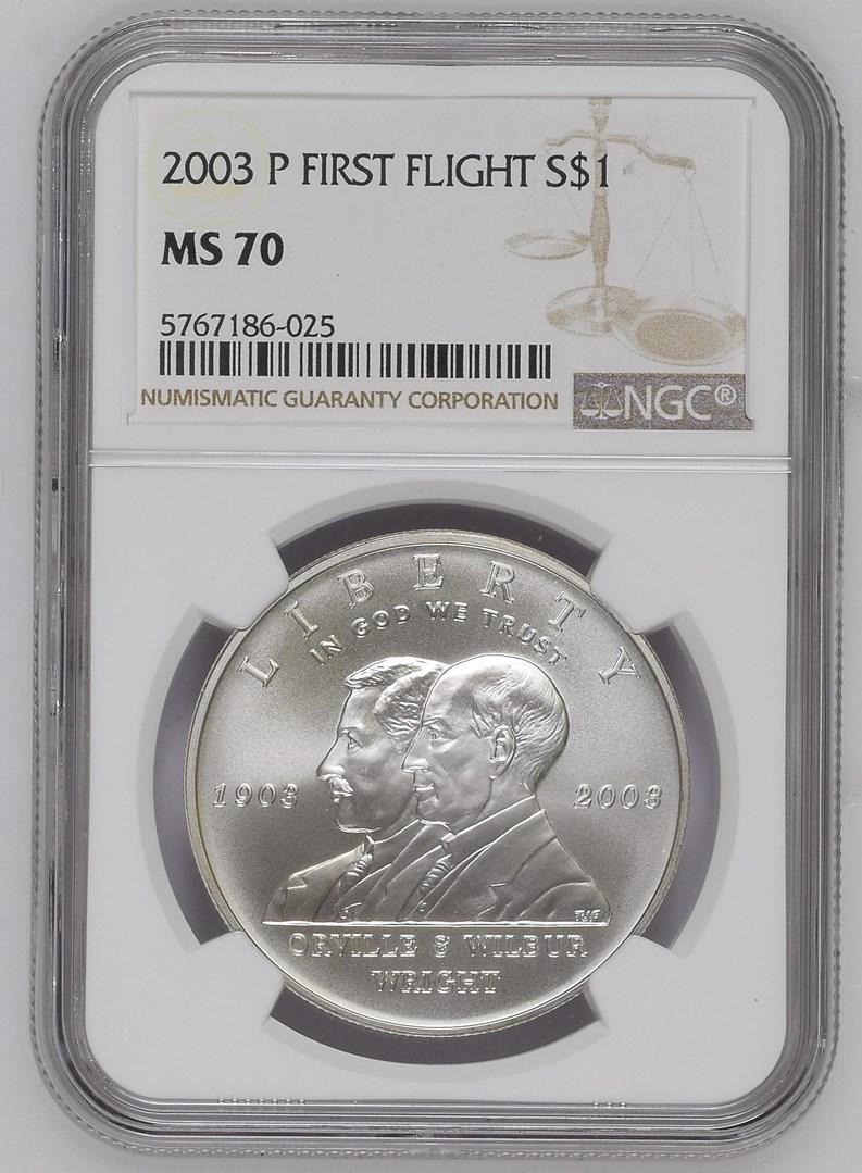 2003-P First Flight Commemorative Half Dollar NGC MS-70 Mint State 70