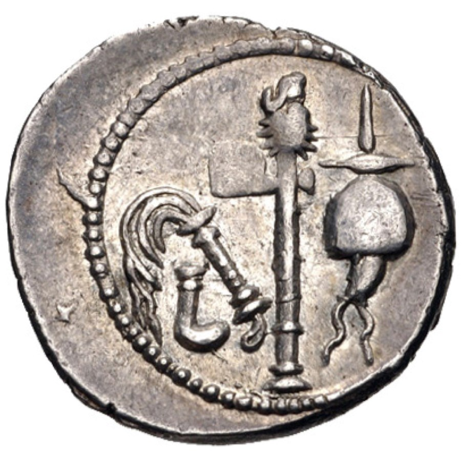 Julius caesar and the roman civil war coin details the roman empire enlarge coin details freerunsca Images