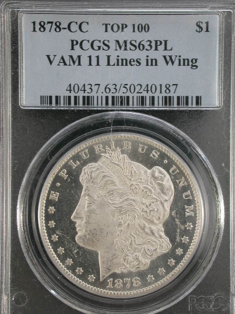1878-CC VAM-11, Wing Lines Coin Details - Brian J's Prooflike Top