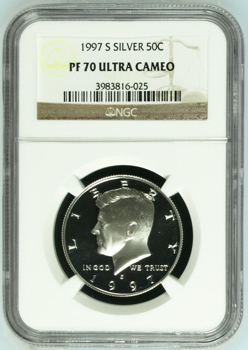 1997 S Silver Kennedy Half Dollar NGC PF 70 Ultra Cameo