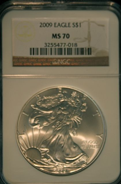 2009 Coin Details 2009 Silver Eagle Ms70