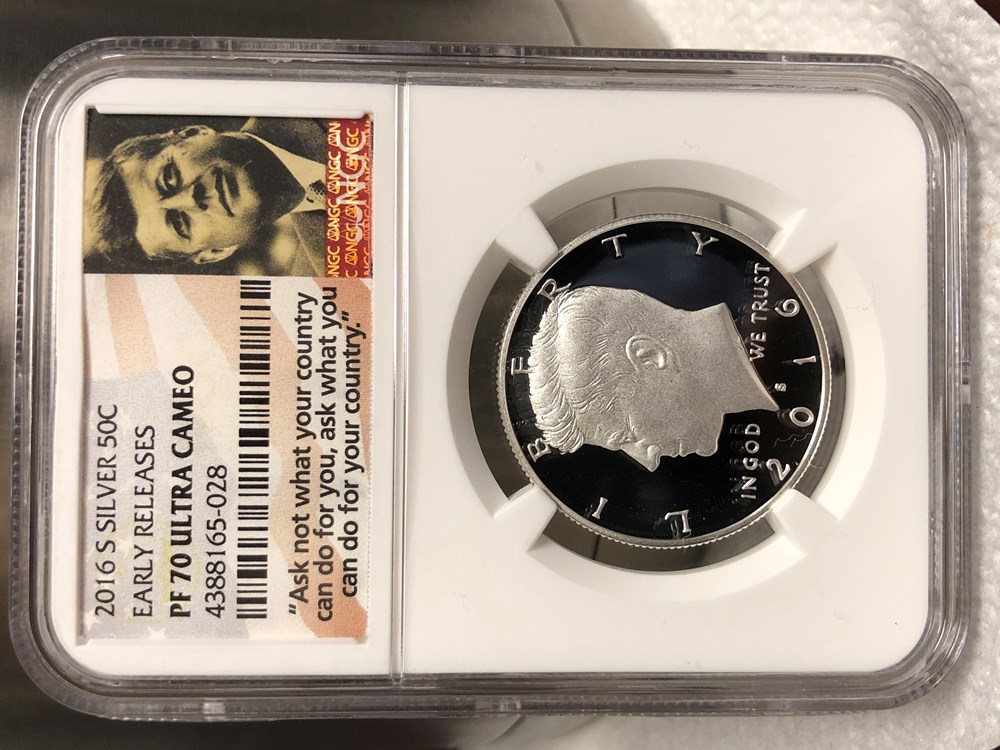 2016 S Silver Proof Kennedy Half Dollar NGC Early Releases PF 70 Ultra Cameo