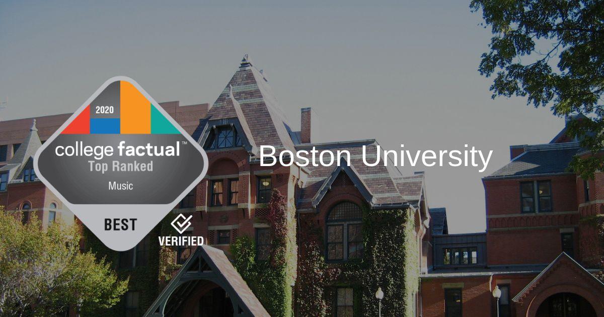 Best Of Boston 2020.Boston U Is 2 In 2020 Best Schools For Music Ranking