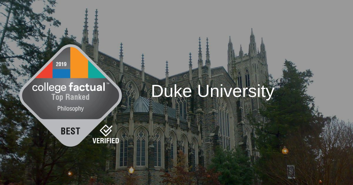 Duke Philosophy Program in Top 10% of Country in 2019