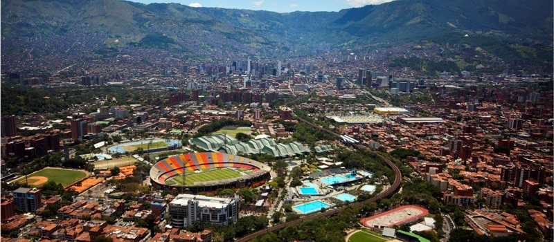 The journey from Medellin airport to city