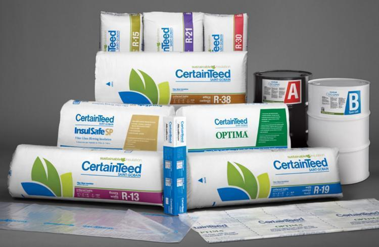 r19 6 in x 16 in x 96 in certainteed certapro unfaced insulation at