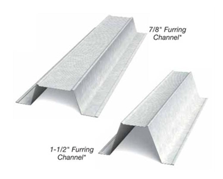 1 1 2 In X 12 Ft X 20 Gauge G60 Furring Channel Hat