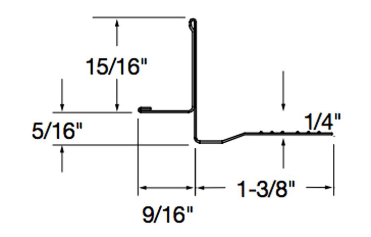 10 Ft X 9 16 In Armstrong Tegular Transition Molding