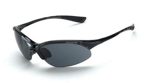 Radians Crossfire Cobra Safety Glasses - Smoke Lens, Black Frame