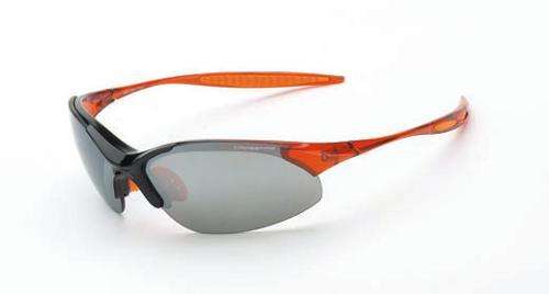 Radians Crossfire Cobra Safety Glasses - SIlver Mirror Lens, Orange Frame