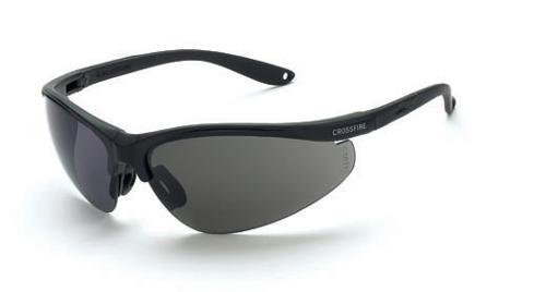 Radians Crossfire Brigade Safety Glasses - Smoke Lense, Matte Black Frame