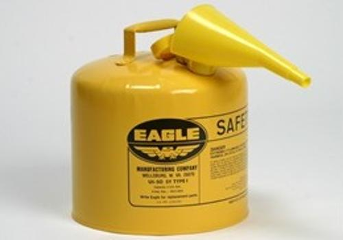 Eagle Type I Safety Can w/ F-15 Funnel - Yellow