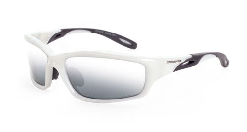Radians Crossfire Infinity Safety Glasses - Silver Mirror Lens, Pearl White Frame