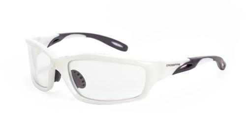 Radians Crossfire Infinity Safety Glasses - Clear Lens, Pearl White Frame