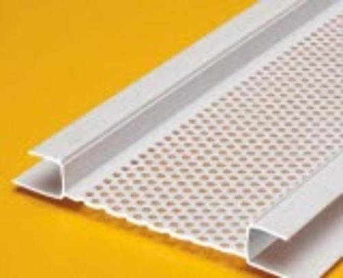 2 5/8 in x 10 ft Plastic Components Continuous Soffit Vent w/ 1/2 in Ground