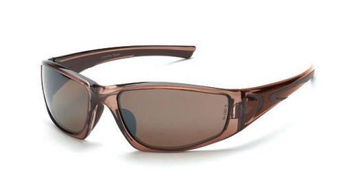 Radians Crossfire RPG Safety Glasses - HD Brown Flash Mirror Lens, Crystal Brown Frame