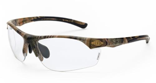 Radians Crossfire AR3 Safety Glasses - Clear Lens, Woodland Brown Camouflage Frame