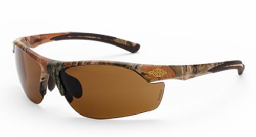 Radians Crossfire AR3 Safety Glasses - HD Brown Lens, Woodland Camo Frame