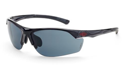 Radians Crossfire AR3 Safety Glasses - Super Dark Smoke Lens, Crystal Black Frame
