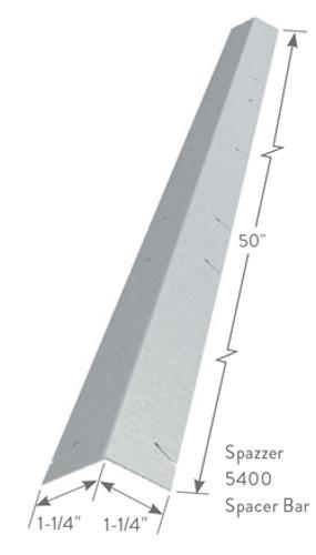 1 1/4 in x 1 1/4 in x 50 in x 16 Gauge ClarkDietrich Spazzer 5400 Bridging Bar