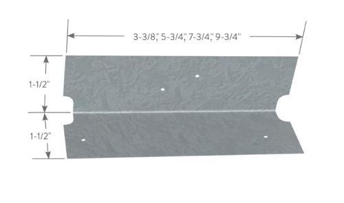 1 1/2 in x 1 1/2 in x 5 3/4 in x 16 Gauge ClarkDietrich EasyClip U-Series Clip Angles