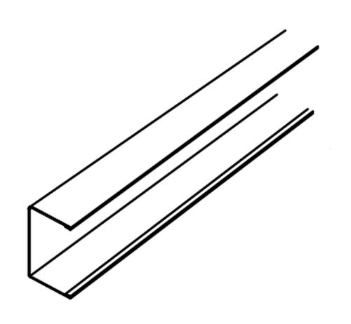10 ft x 9/16 in Armstrong Suprafine XL Exposed Tee Channel Molding - 7835