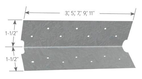 1 1/2 in x 1 1/2 in x 3 in x 16 Gauge Clark Dietrich EasyClip S-Series Support Clips