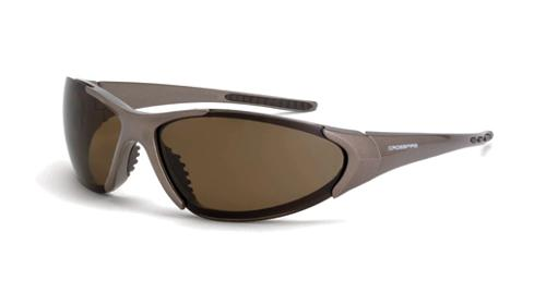 Radians Crossfire Core Safety Glasses - Polarized HD Brown Lens, Mocha Brown Frame