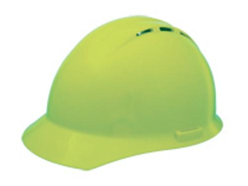 ERB 19450 Americana Vent Hard Hat w/ 4-Point Ratchet - Hi-Viz Lime