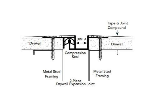 1/2 in x 1 1/2 in x 10 ft Fry Reglet 2-Piece Drywall Expansion Joint