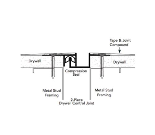 1/2 in x 1 1/2 in x 10 ft Fry Reglet Drywall Expansion Joint - 2 Piece