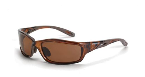 Radians Crossfire Infinity Safety Glasses - Polarized Lens, Crystal Brown Frame