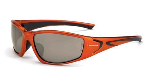 Radians Crossfire RPG Safety Glasses - HD Demi-Copper Flash Mirror Lens, Burnt Orange Frame