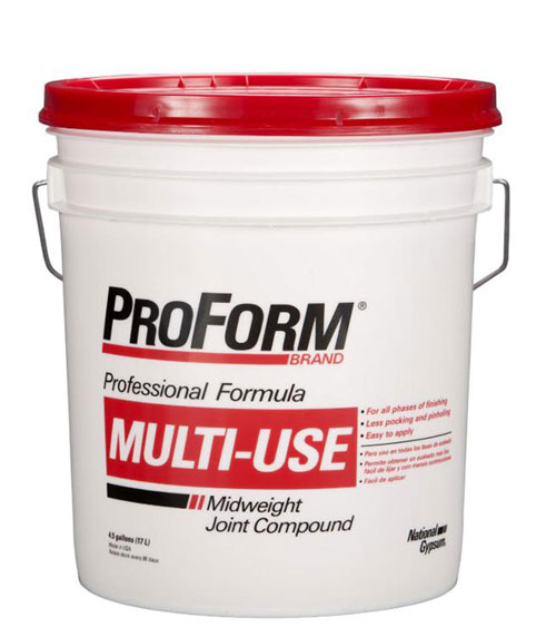Gold bond multi use mud 5 gallon pail at capitol building for Gold bond joint compound
