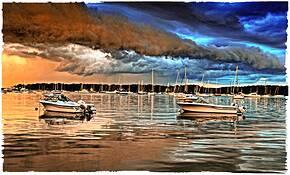 Dering Bay Storm by John Van Aken