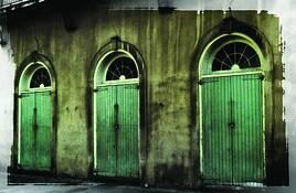 Green Doors by Rodney Gene Mahaffey