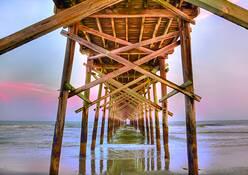 Ocean Isle Pier by Gregory Allen Butler