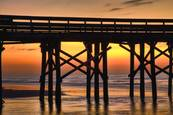 Pier at Sunrise by Gregory Allen Butler