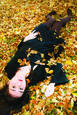 In The Leaves. Lewiston. ME by Abigail Wellman