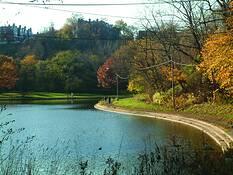Schenley Park lake by Phillip A. Windell