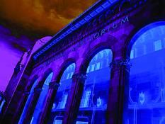 Blue Arcade by Edgar R. Farrera