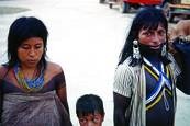 Embera Family in the Streets of Quibdó at Easter by Larry Kincaid