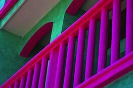 Balcony Playa del Carmen by Rodney Gene Mahaffey